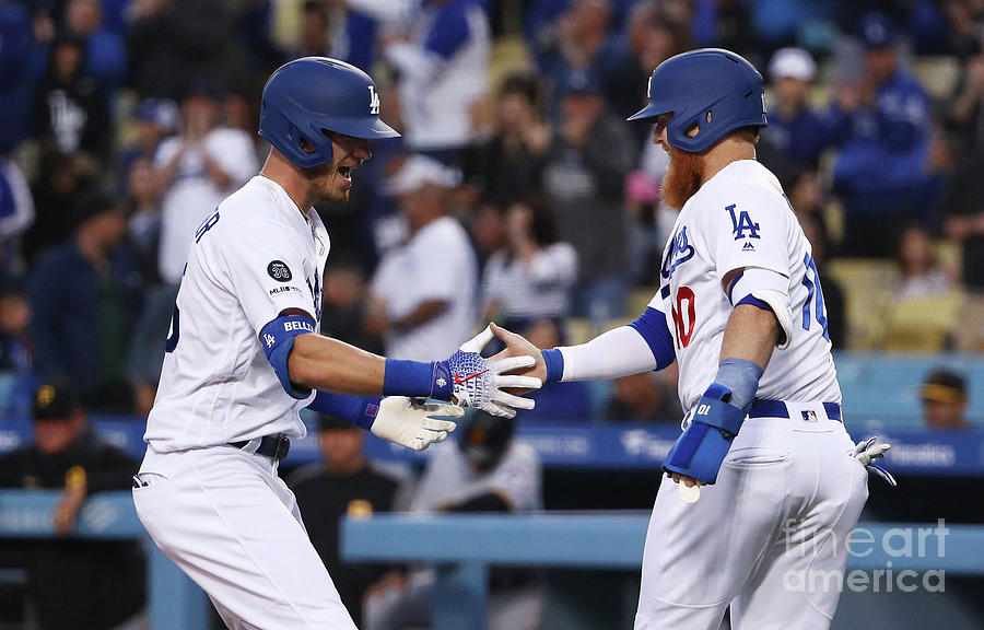 Cody Bellinger And Justin Turner Photograph by Victor Decolongon