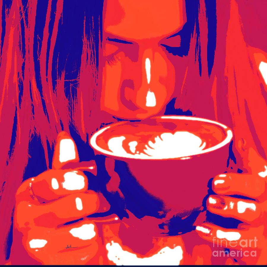 Coffee Painting - Coffee 21821 by Jack Bunds