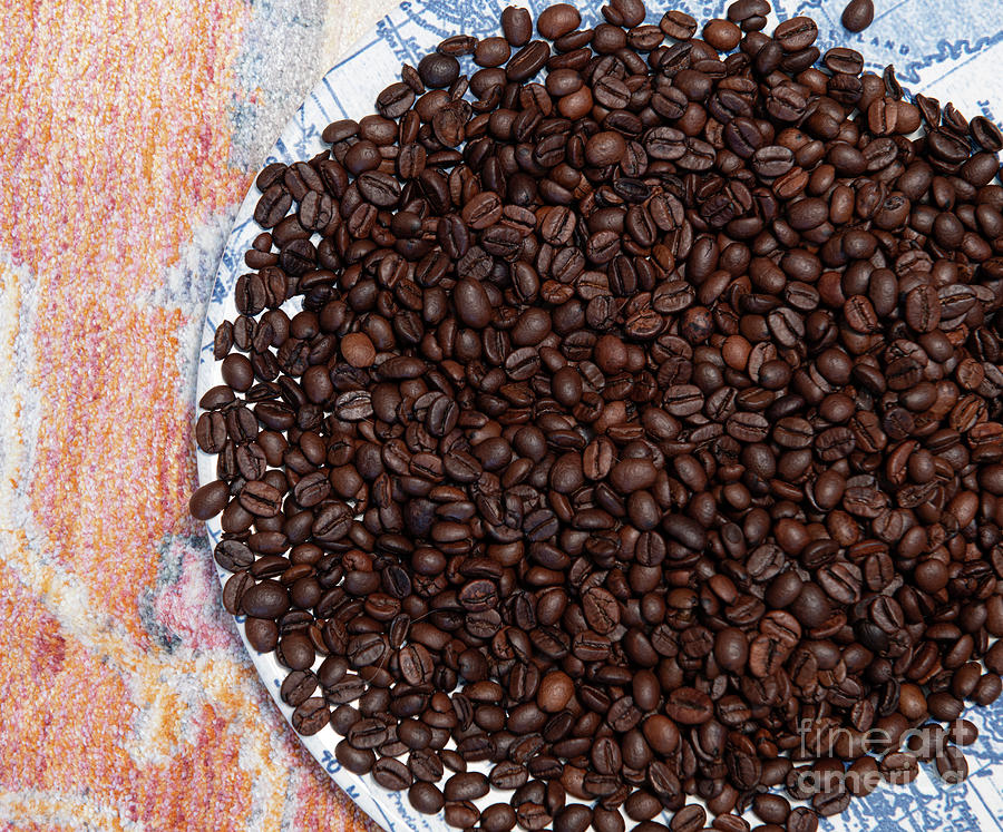 Coffee Beans - Coffee Shop Gold Photograph