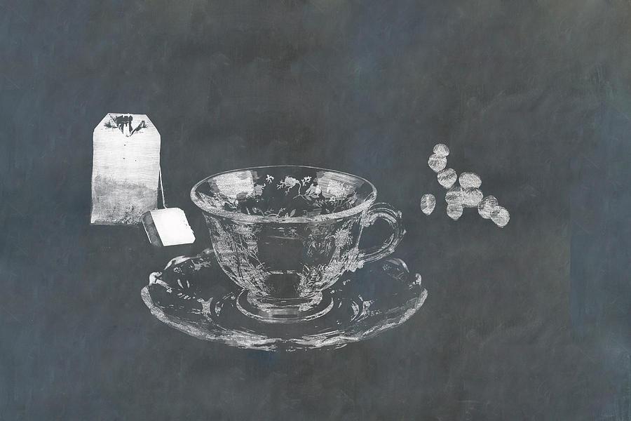 Coffee Or Tea On Slate Photograph