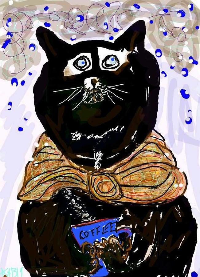 Coffeecat by Kathy Barney