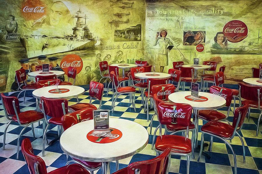 Battleship Photograph - Coke Restaurant by Steve Rich