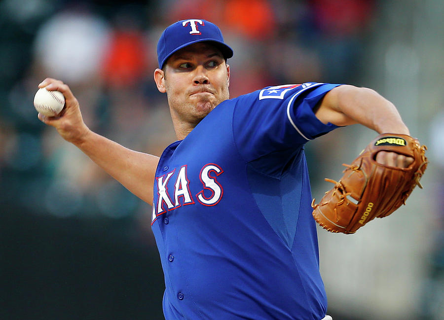 Colby Lewis Photograph by Rich Schultz