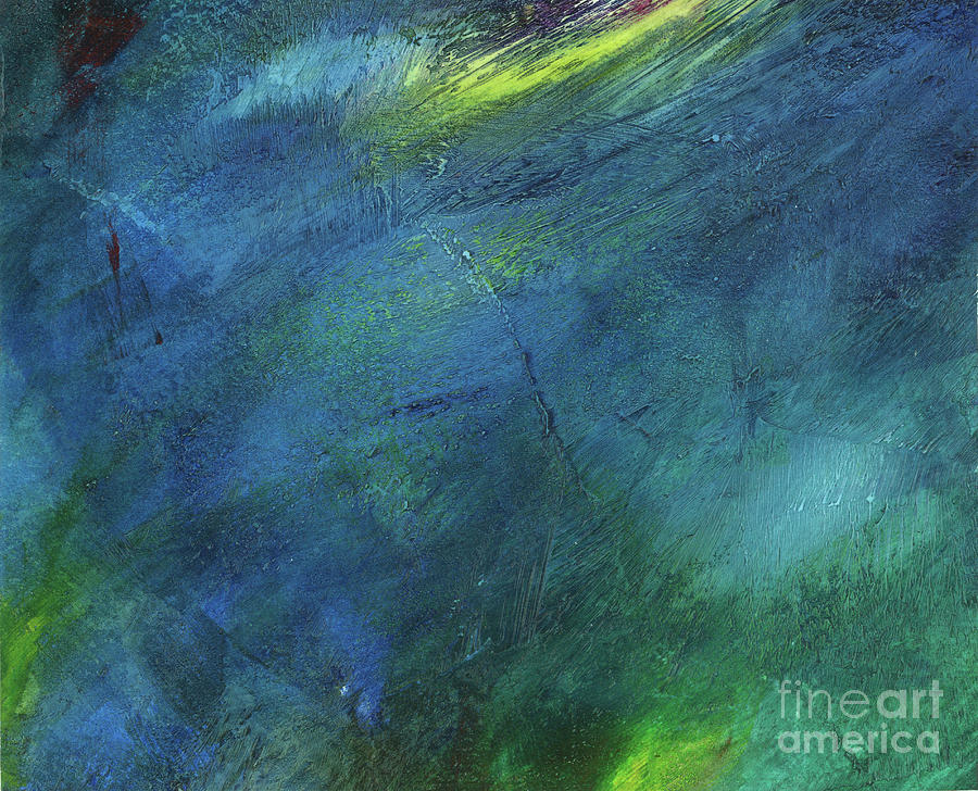 Acrylic Painting - Cold Blue Fire by Brandy Woods