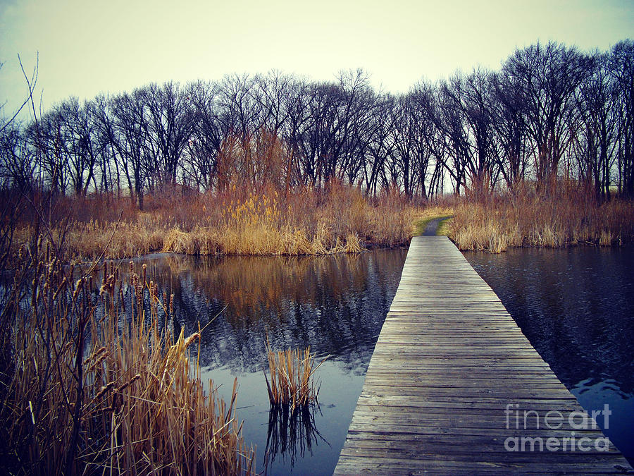 Color Photograph - Cold Day at the Water by Frank J Casella
