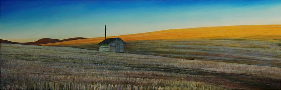 Cold Field At Dusk Painting