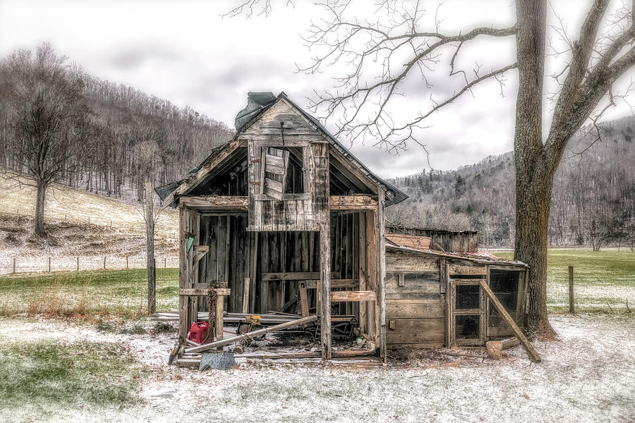 Barn Photograph - Cold Lonesome by Jim Love