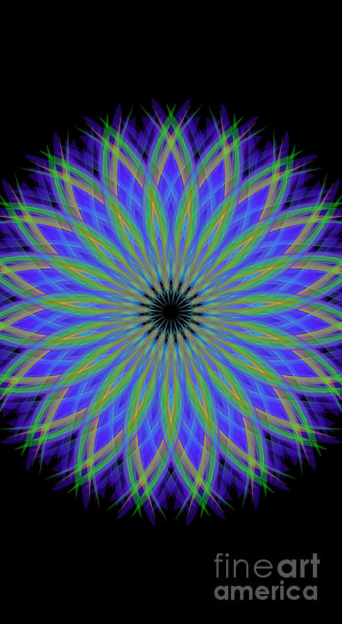 Cold Winter Night Mandala Digital Art