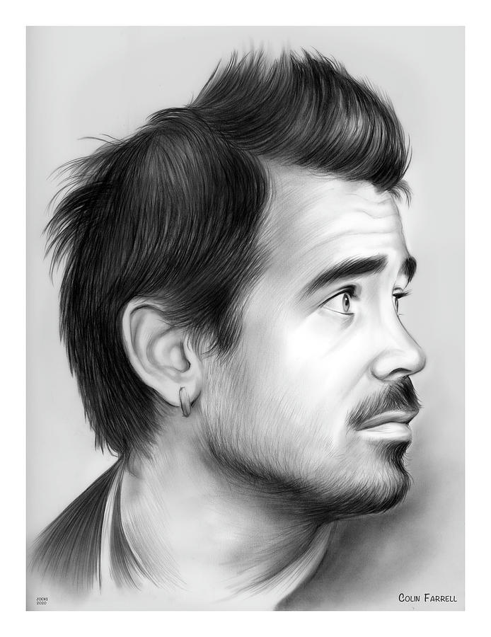 Colin Farrell Drawing - Colin by Greg Joens