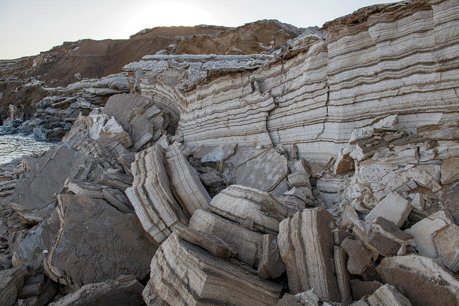 Collapsed Rock at the Dead Sea by Dubi Roman
