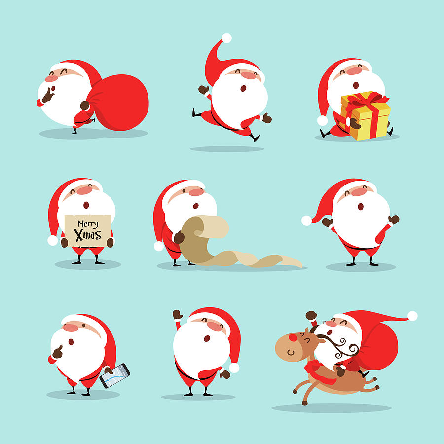 Collection Of Christmas Santa Claus Drawing