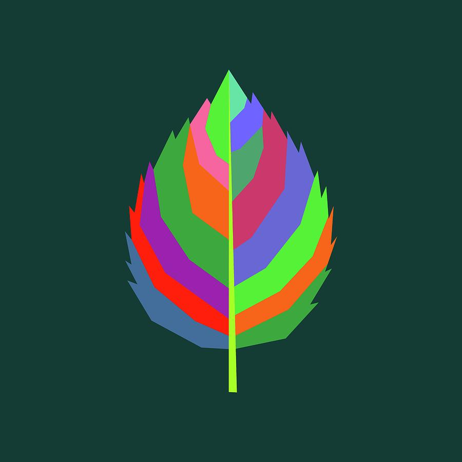 Coloful Leaf 002 Digital Art