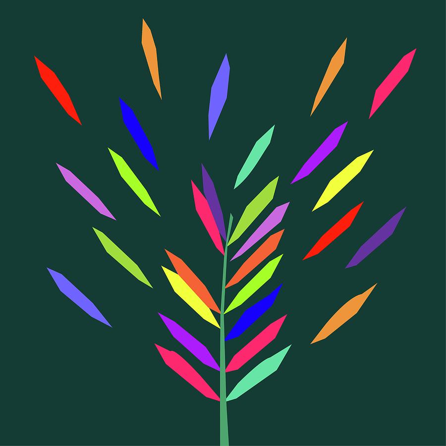 Coloful Leaf 015 Digital Art
