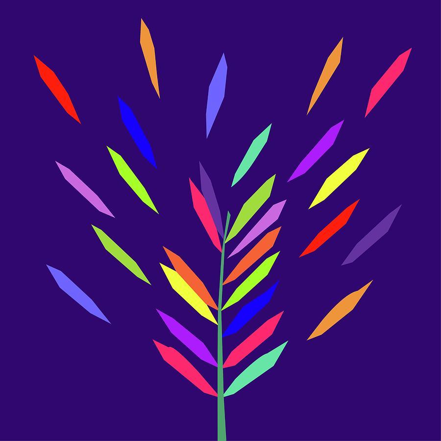 Coloful Leaf 017 Digital Art