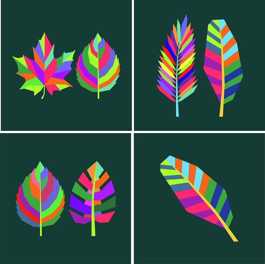 Coloful Leaf 019 Digital Art