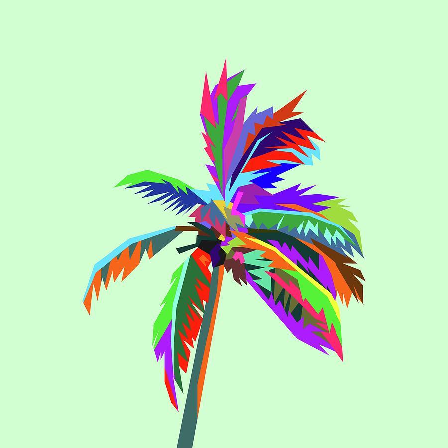 Coloful Palm Tree 1 Digital Art