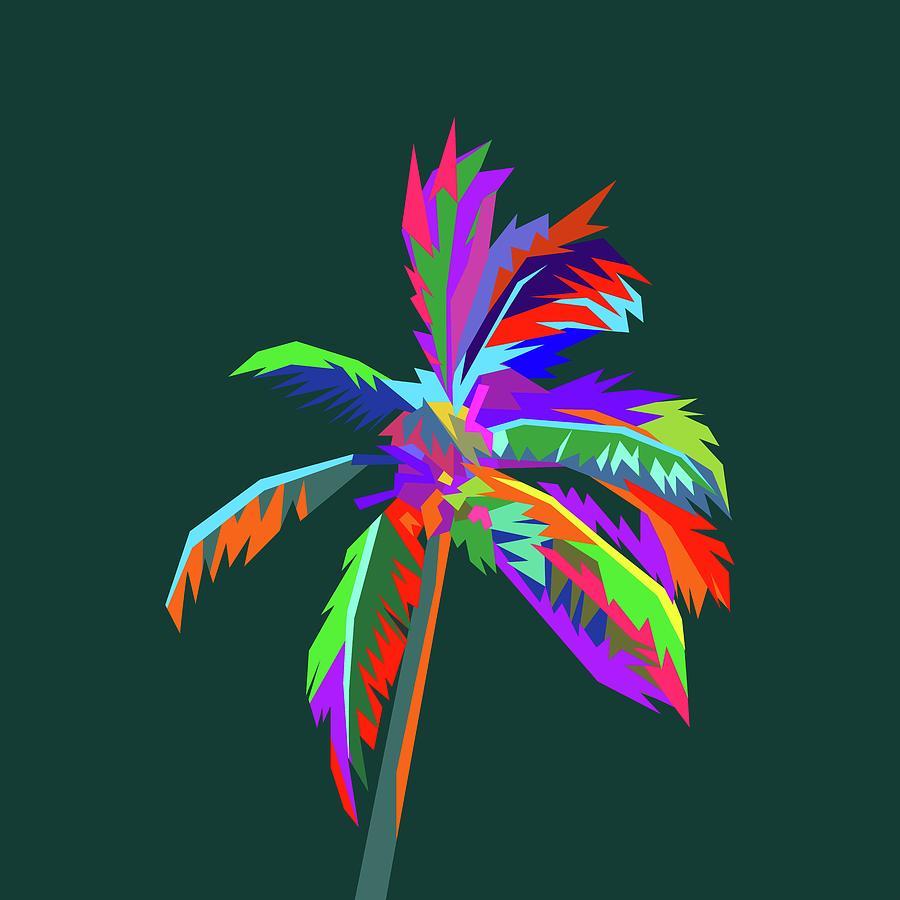 Coloful Palm Tree 2 By Ahmad Nusyirwan Digital Art