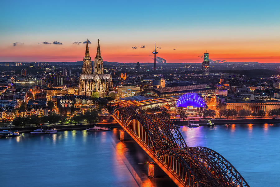 Bridge Photograph - Cologne 03 by Tom Uhlenberg