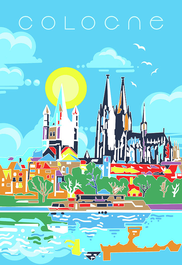 Cologne City Modern Digital Art