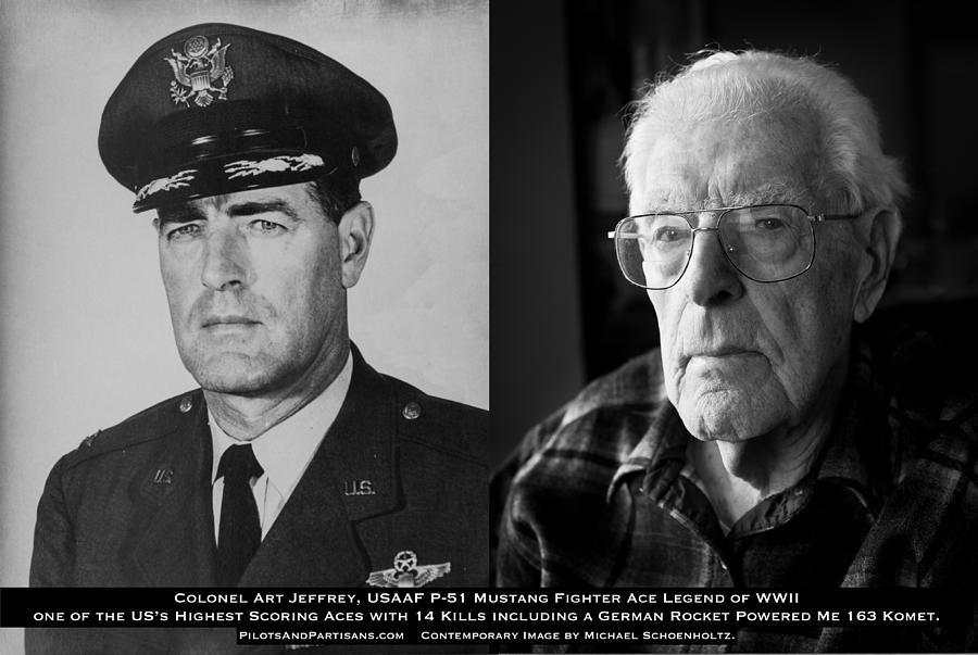 Wwii Photograph - Colonel Art Jeffrey USAAF Fighter Ace Then and Now by Pilots and Partisans Then and Now