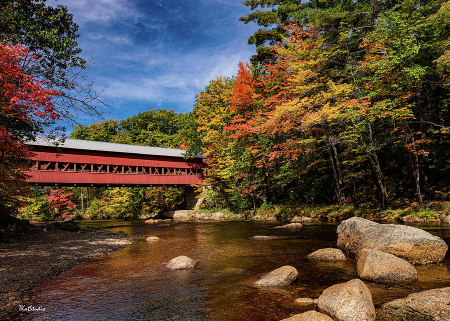 Color at the Swift River Bridge by Tim Kathka