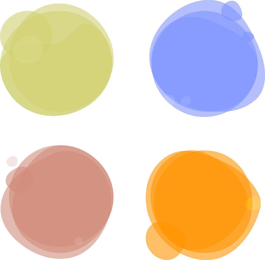 Color Circles Drawing by Amtitus
