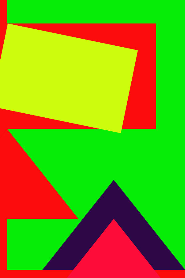 Color Combination Of Geometric Abstraction No 2 By Ahmet Asar Digital Art