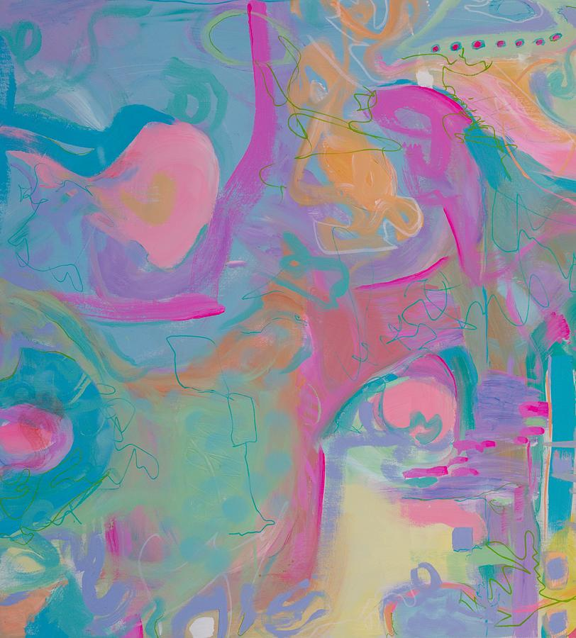 color me crazy subdued painting by valerie lucie pixels