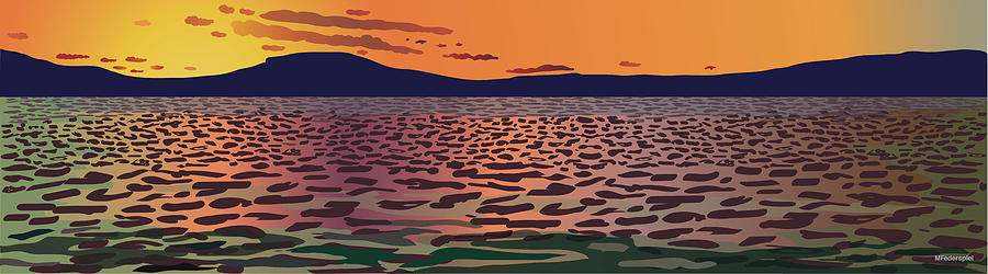 Landscape Digital Art - Color Waves by Marian Federspiel