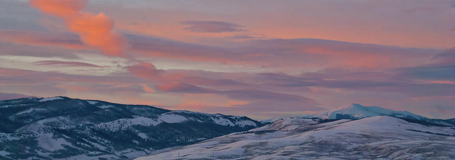 Colorado Winter Sunset Panorama by Cascade Colors