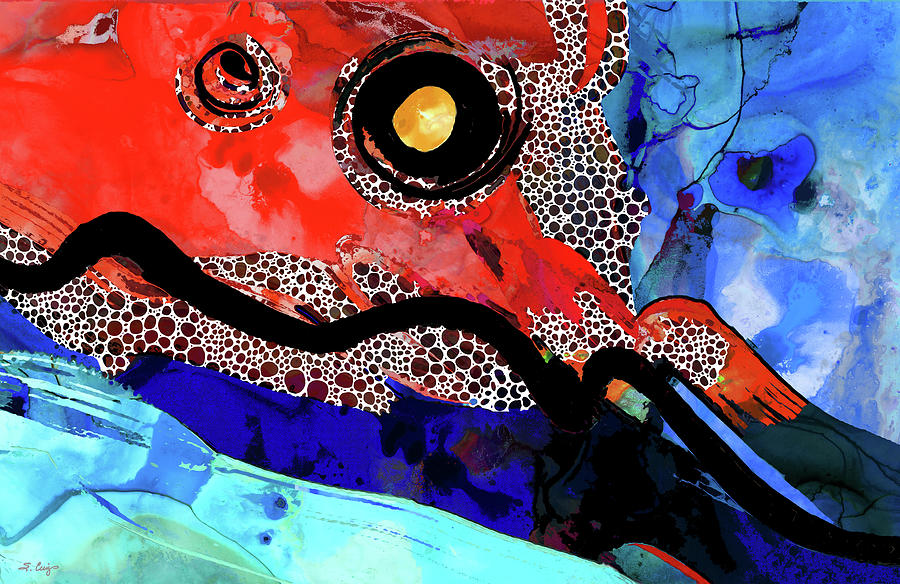 Red Painting - Colorful Abstract Art - Red River - Sharon Cummings by Sharon Cummings