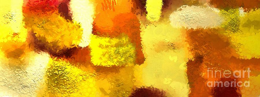 Gold Painting - Colorful abstract gold art colors by Stefano Senise