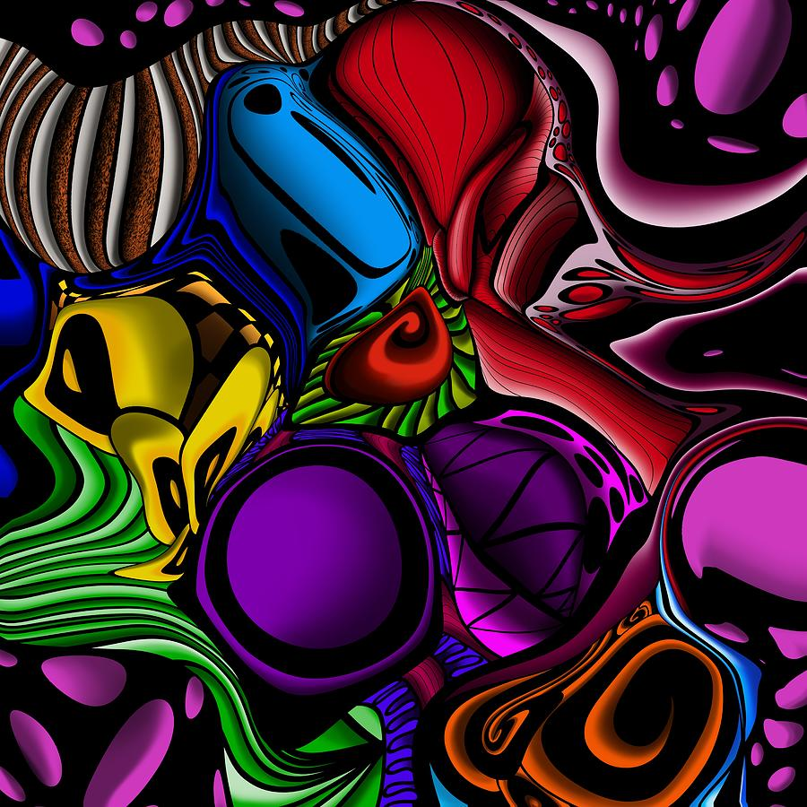 Colorful, abstract pattern with bright colors by Patricia Piotrak