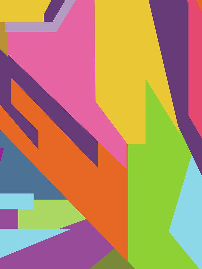 Colorful Abstract Pop Art 0111 Digital Art