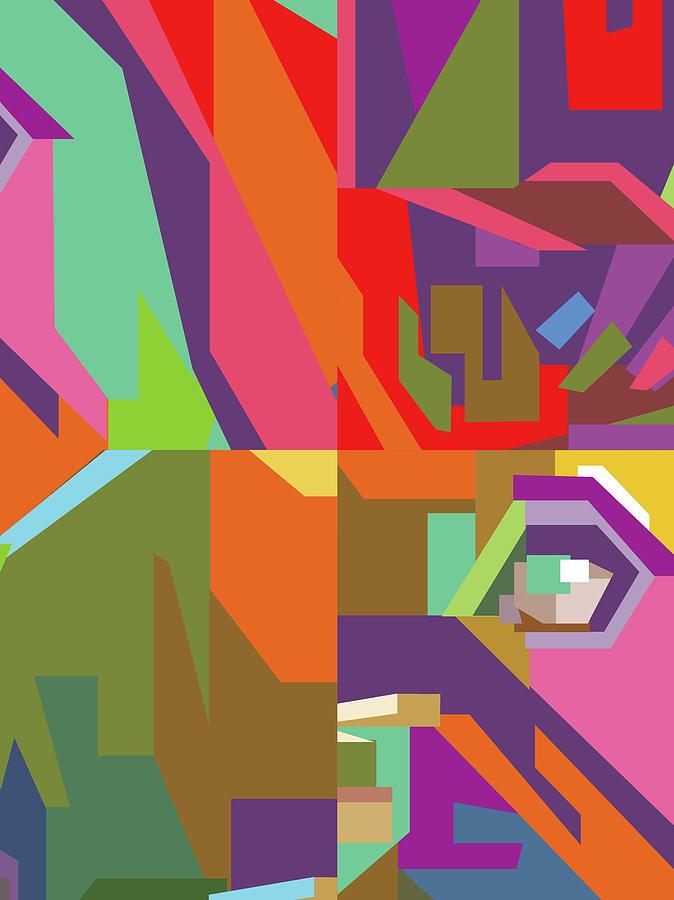 Colorful Abstract Pop Art 0112 Digital Art