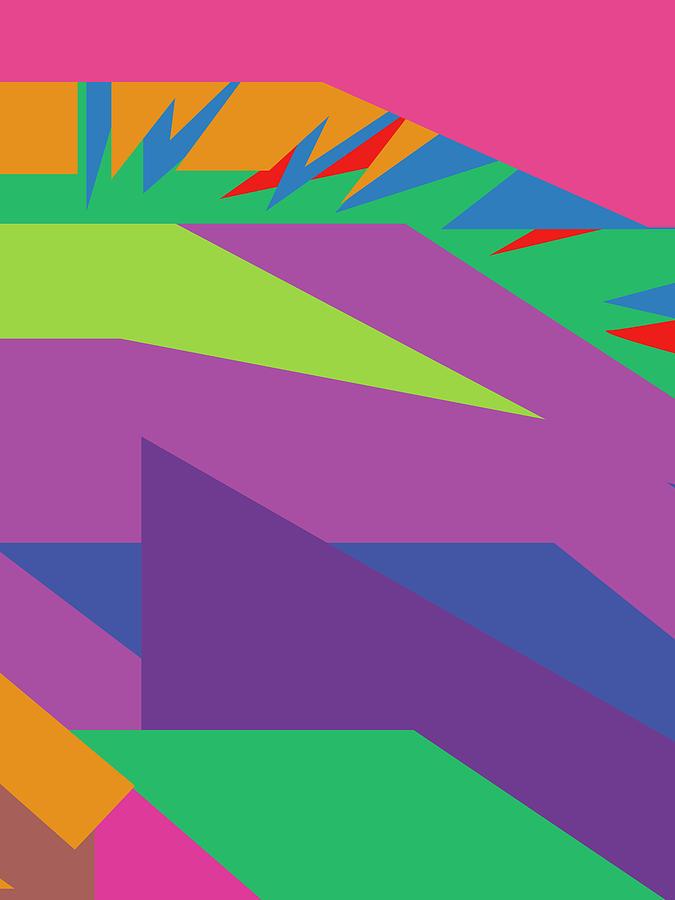 Colorful Abstract Pop Art 0137 Digital Art