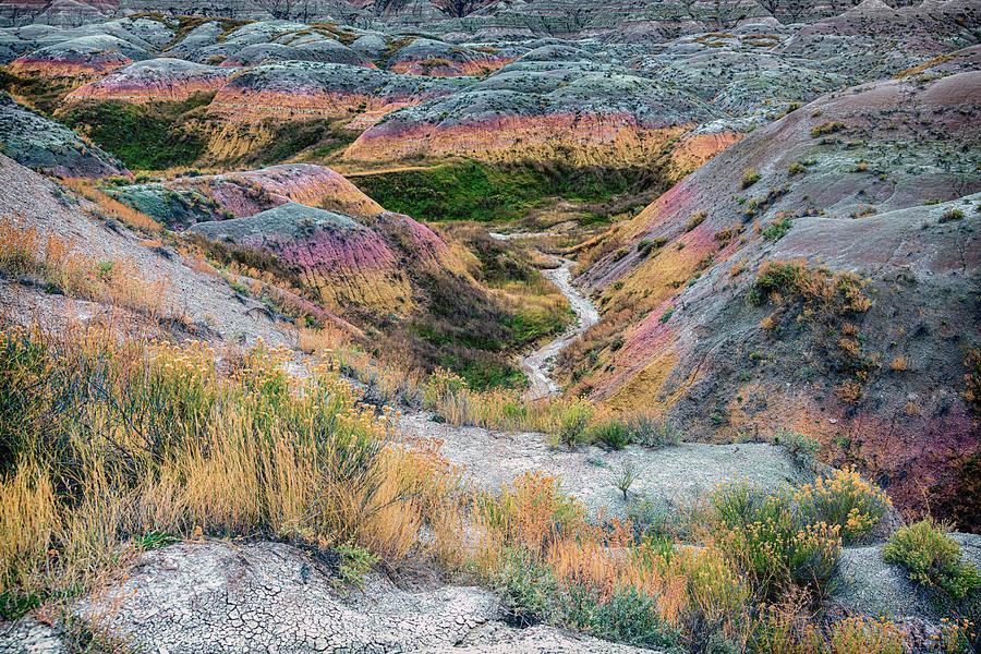 Colorful Arroyo Badlands NP South Dakota GRK6422_10182019 by Greg Kluempers