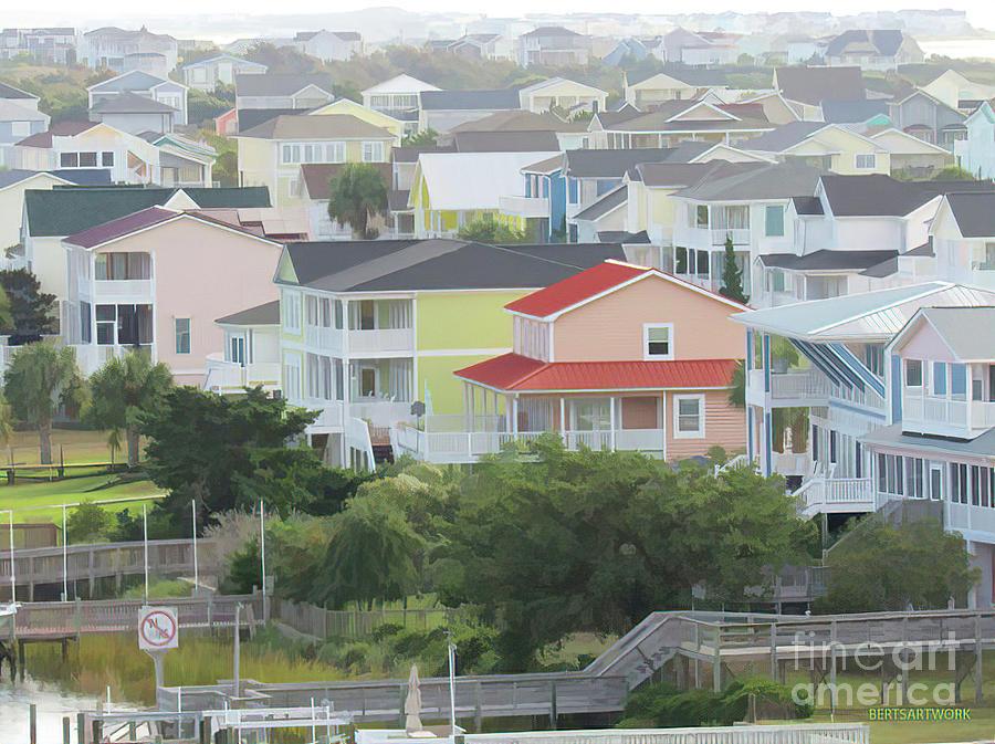 Colorful Beach Houses by Roberta Byram