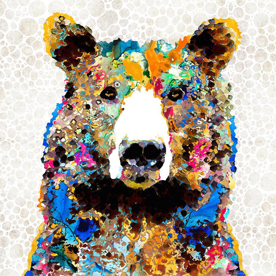 Bear Painting - Colorful Bear Art - Umm Bearable - Sharon Cummings by Sharon Cummings