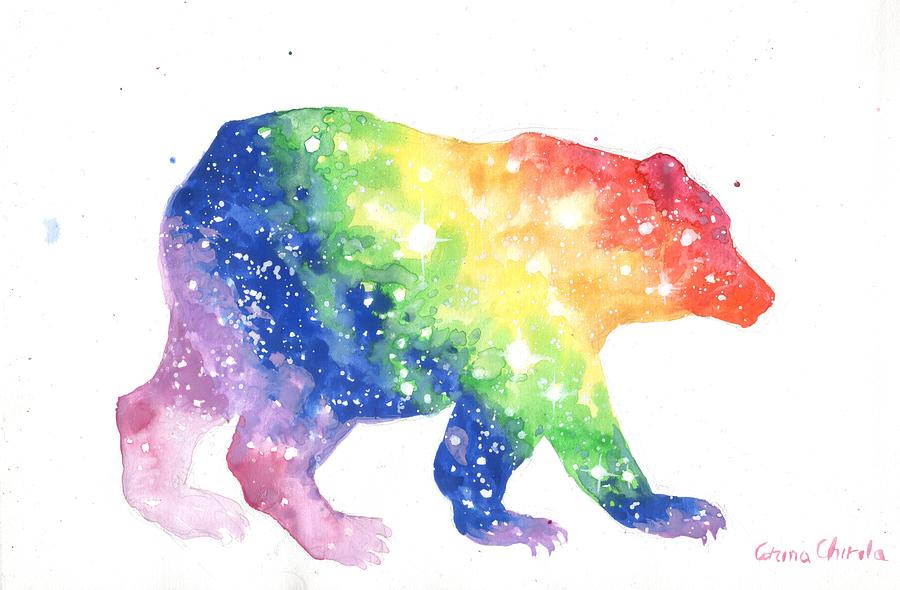 Colorful Painting - Colorful Bear by Chirila Corina