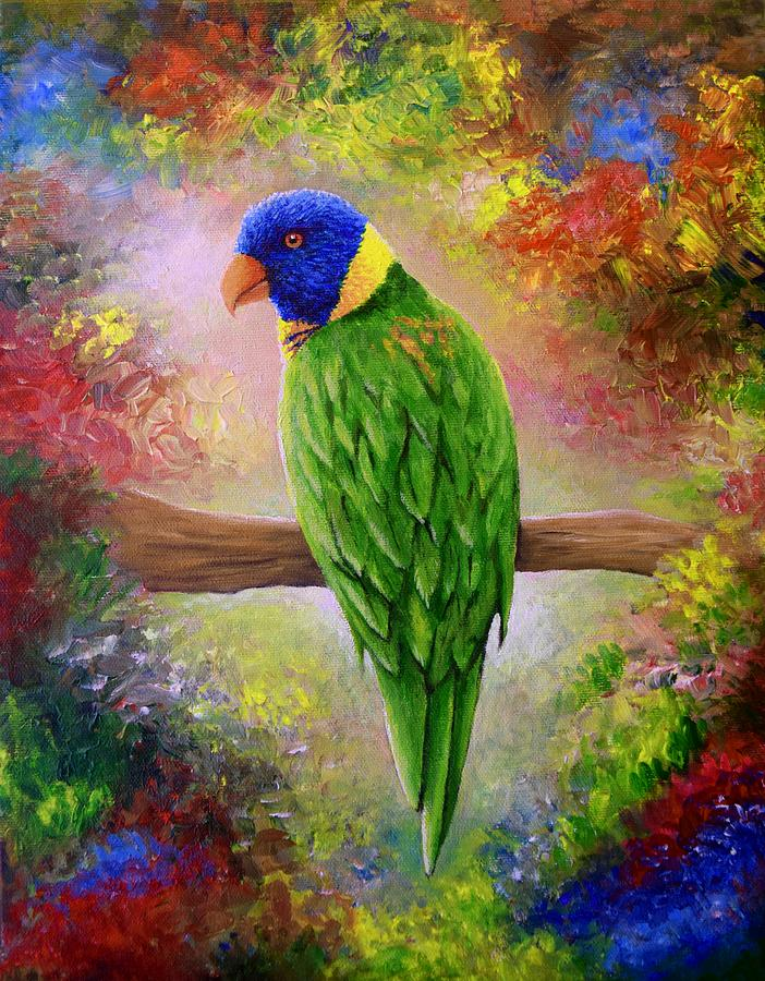Colorful Bird 76 by Lucie Dumas