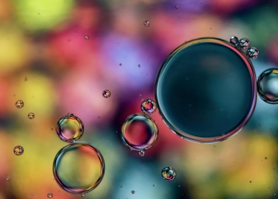 Colorful Bubbles Photograph