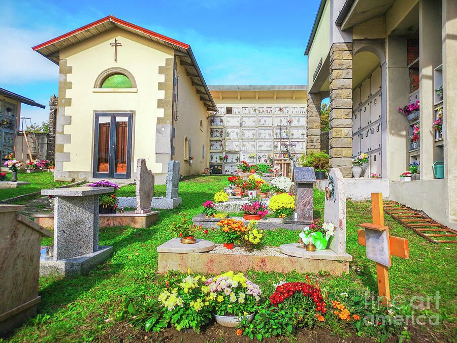 colorful cemetery small country side by Luca Lorenzelli