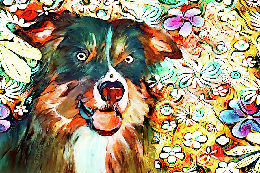 Colorful Collie Mixed Media
