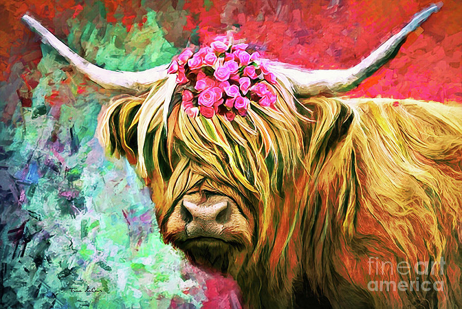 Colorful Cow Painting