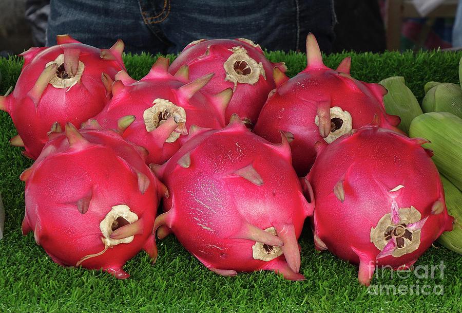 Colorful Dragon Fruits by Yali Shi