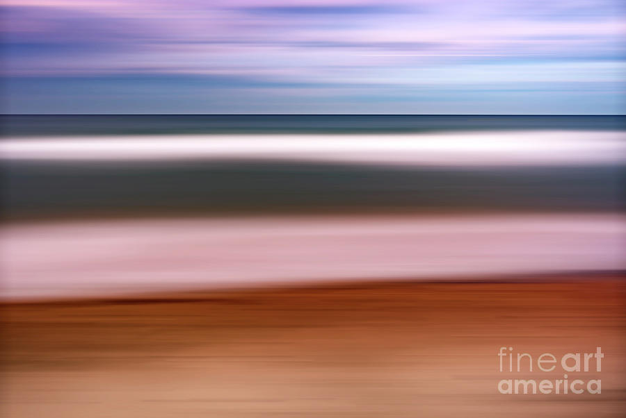 Horizon Photograph - Colorful Eastern Sunset. Abstract by Vicente Sargues