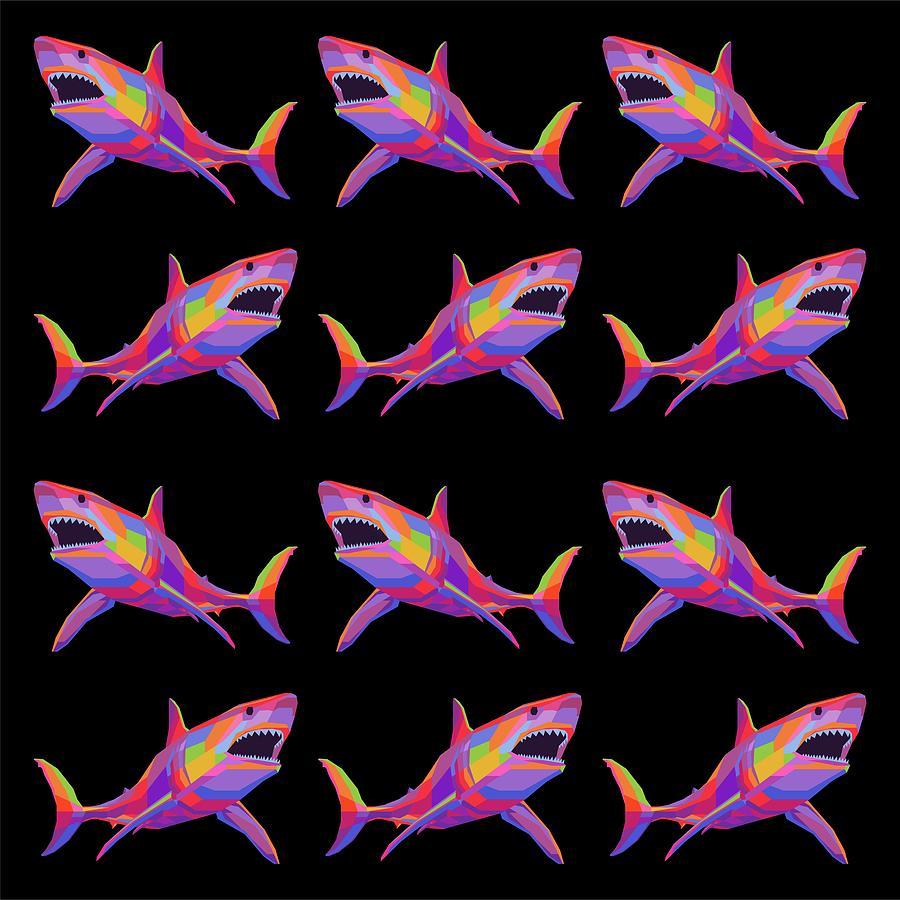 Colorful Fish Pattern 007 Digital Art