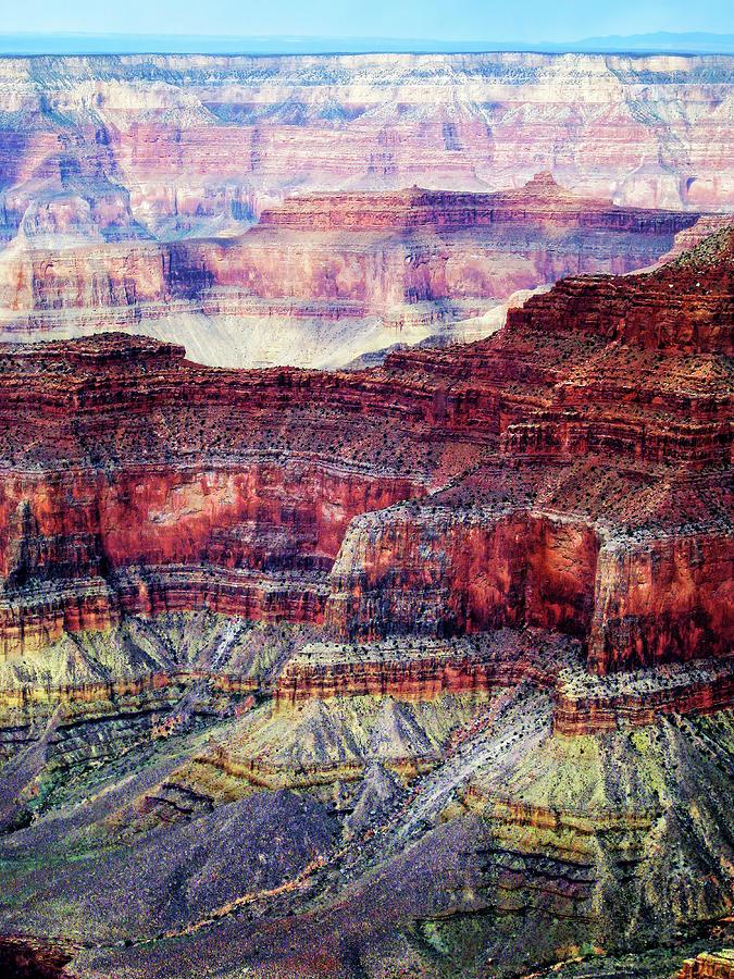 Colorful Grand Canyon Rocks Photograph