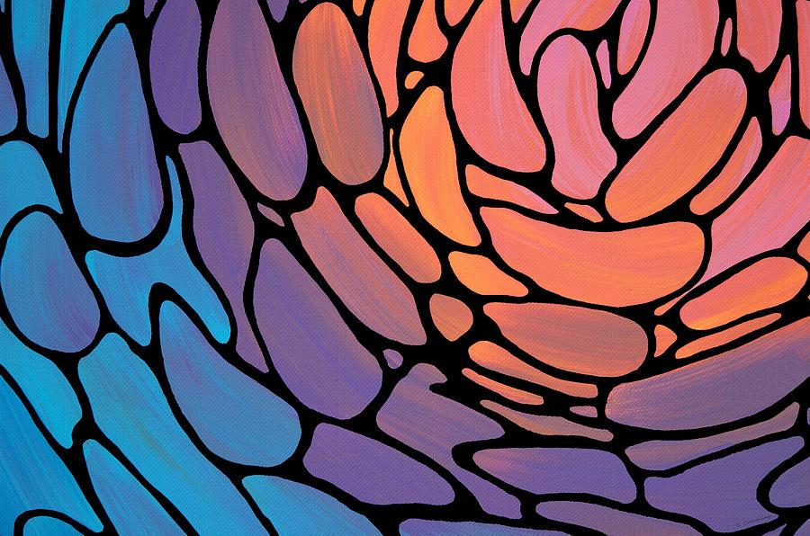 Flower Petals Painting - Colorful Mosaic Art - Bright Petals - Sharon Cummings by Sharon Cummings